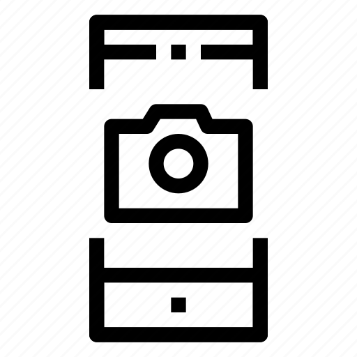 camera, mobile, phone, photo, screen, smartphone icon