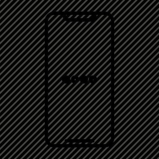 apple, digits, iphone, password, pin, samsung, smartphone icon
