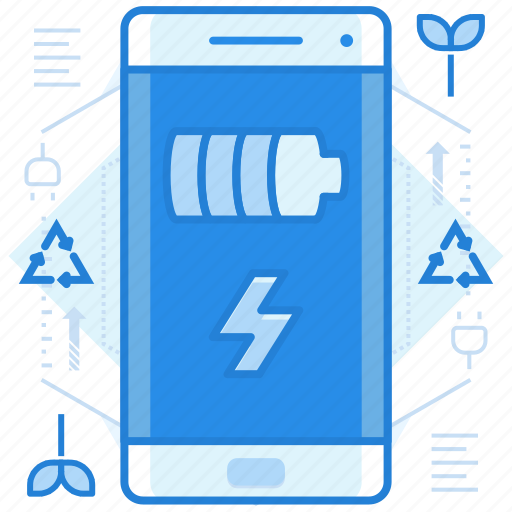 battery, charging, smartphone icon