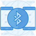 bluetooth, data, transfer icon