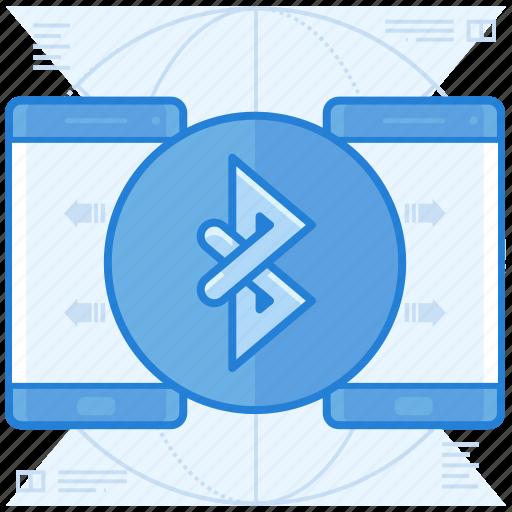 bluetooth, data, transfer icon