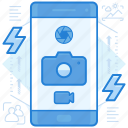 camera, photography, smartphone icon