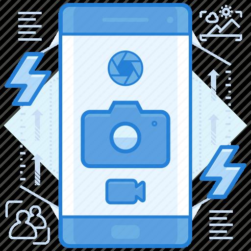 camera, photography, smartphone icon