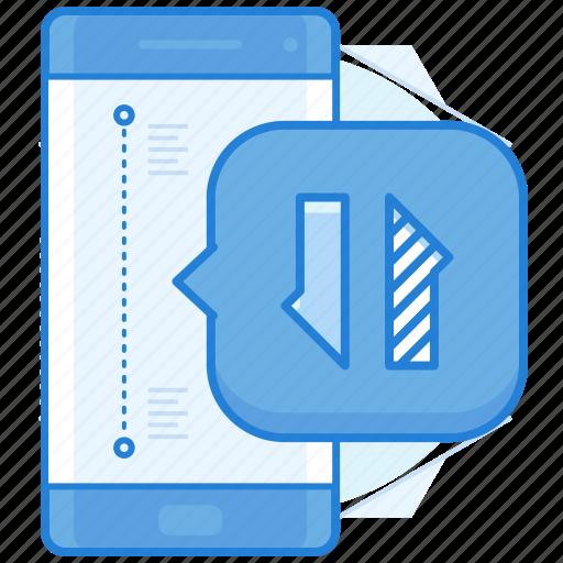 data, mobile, transfer icon