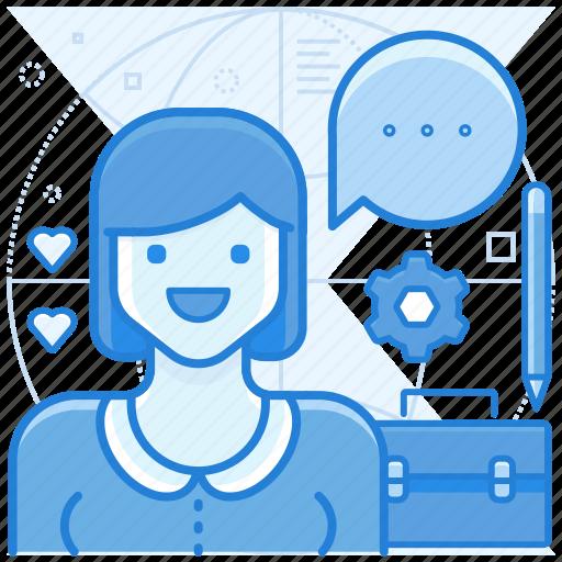 communication, customer, hello, service icon