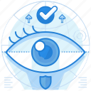iris, scanner, security icon