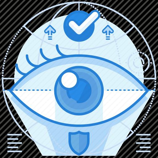 iris, scanner, security icon