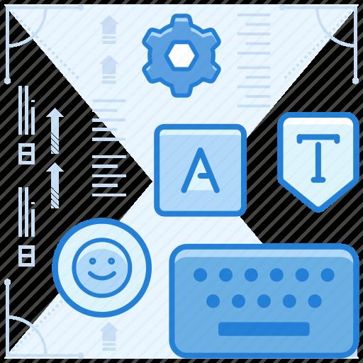 keyboard, settings, type icon