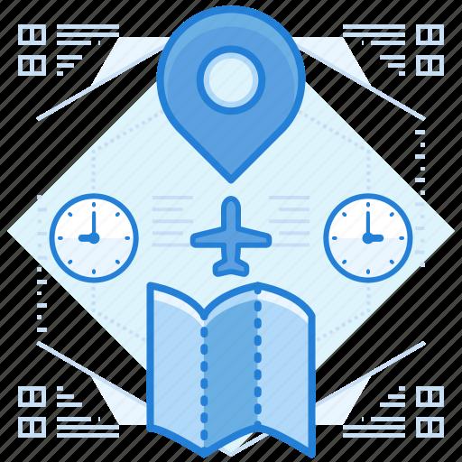 destinations, locations, maps icon