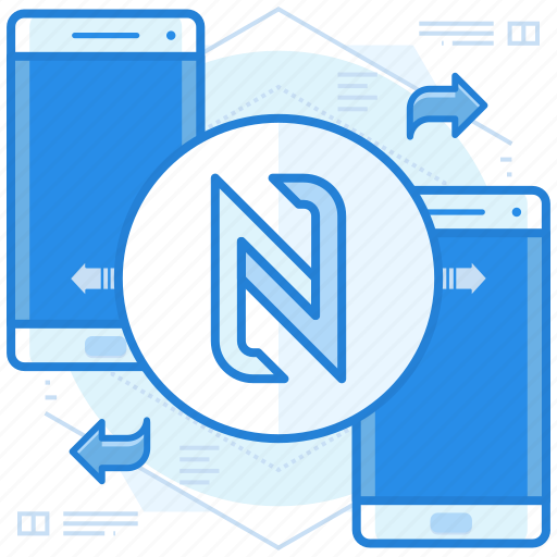 data, nfc, transfer icon
