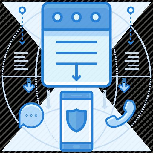 alert, log, notification, smartphone icon