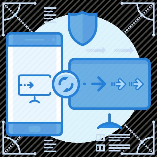 mirror, screen, share icon