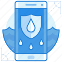 feature, smartphone, waterproof icon