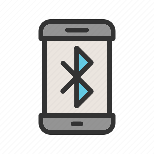 bluetooth, communication, mobile, share, sign, technology icon