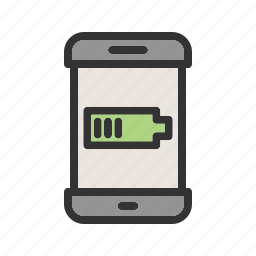 battery, charge, indicator, mobile, phone, screen, smartphone icon