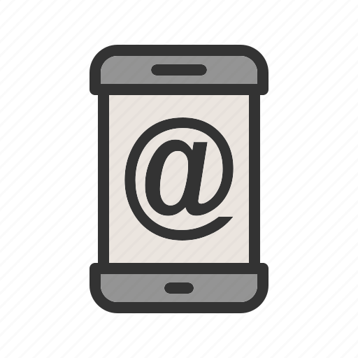 address, email, message, mobile, notification, phone, smartphone icon