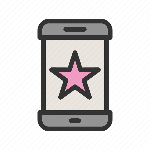 app, favorite, good, media, phone, smart, starred icon