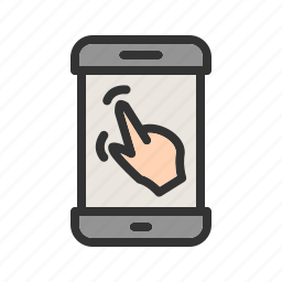 finger, gestures, hand, mobile, phone, swipe, touch icon