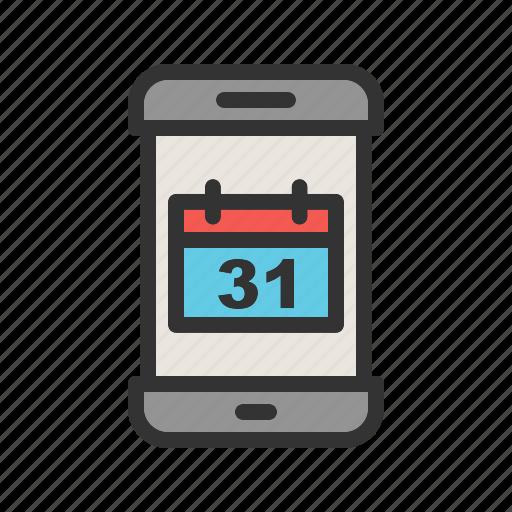 app, calendar, dates, mobile, plan, schedule, screen icon