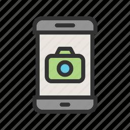 app, camera, mobile, phone, picture, screen, smartphone icon