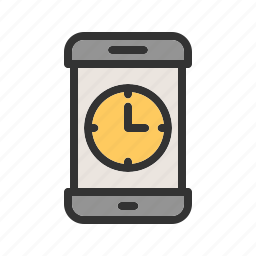 app, clock, mobile, plan, schedule, screen, time icon