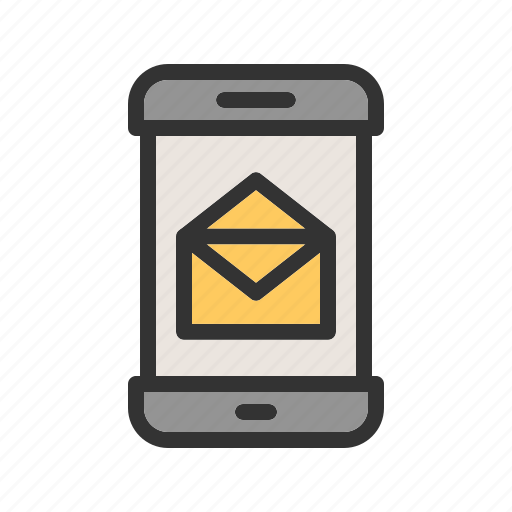 app, mail, message, mobile, notification, phone, sms icon