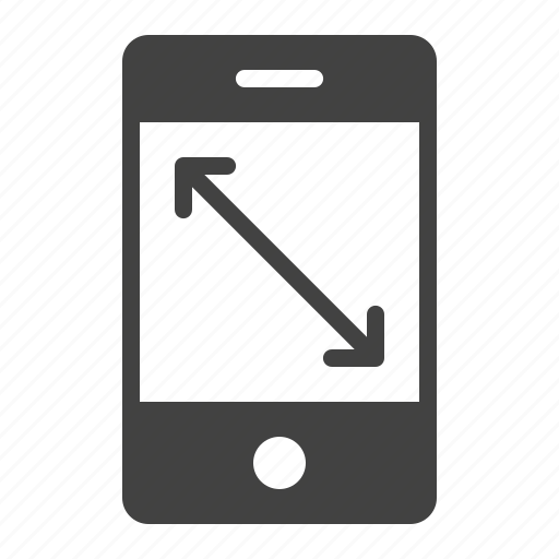 display, inches, mobile, phone, screen, size, smartphone icon