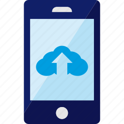 cloud, mobile, service, smartphone, upload icon