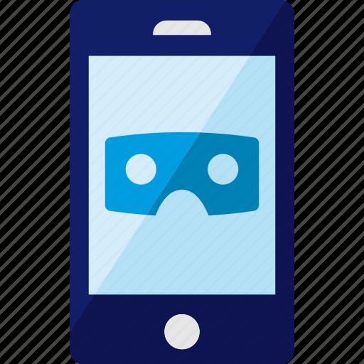 glasses, phone, reality, smartphone, virtual, vr icon