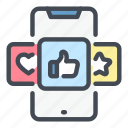 feedback, media, phone, rate, rating, review, social icon