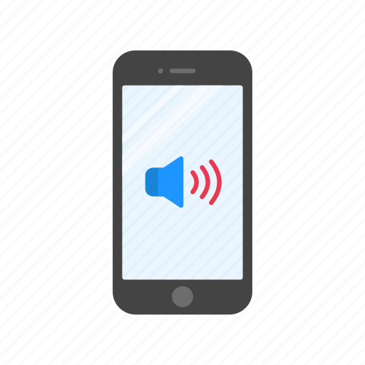 full volume, high volume, mobile speaker, sound icon