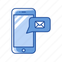 chat, inbox, message, phone icon
