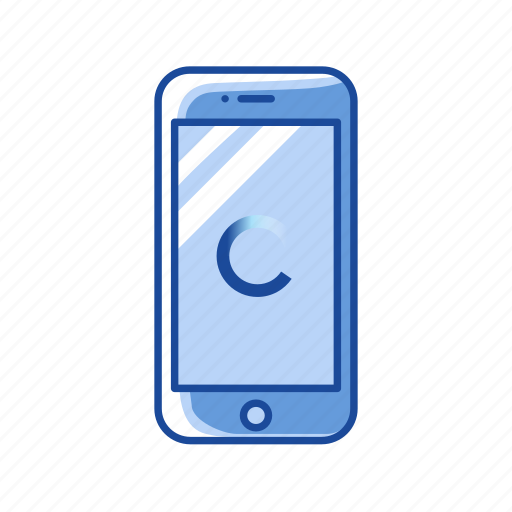 Loading, loading phone, phone, processing icon - Download on Iconfinder
