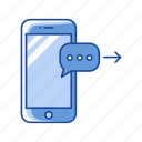 inbox, message, phone, sending message icon