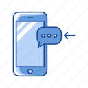inbox, message, phone, receive message icon
