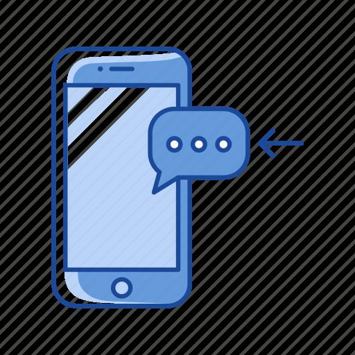 Inbox, message, phone, receive message icon - Download on Iconfinder