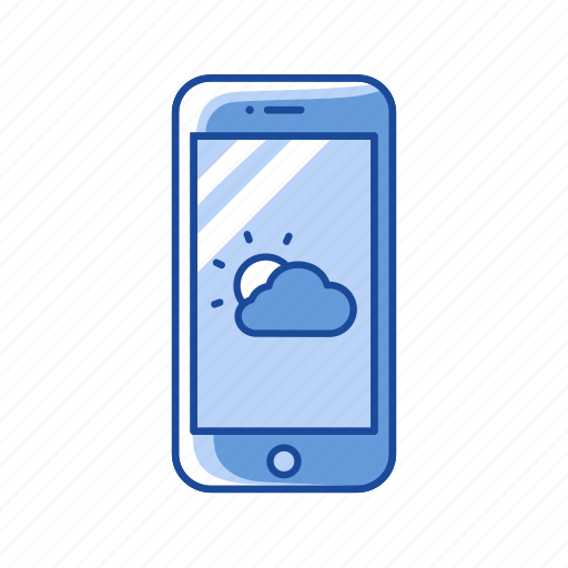 mobile weather, phone, weather, weather app icon