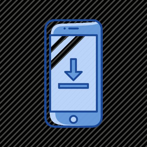 download, mobile upload, processing, upload icon