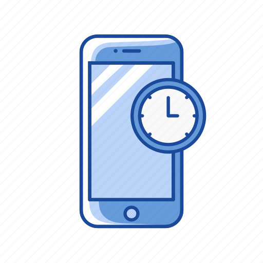 clock, mobile clock, phone, time icon