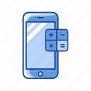 calculator, mobile app, mobile calculator, phone icon