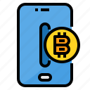 bitcoin, blockchain, currency, digital, smartphone