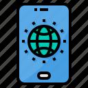 conection, global, smartphone, world, worldwide icon