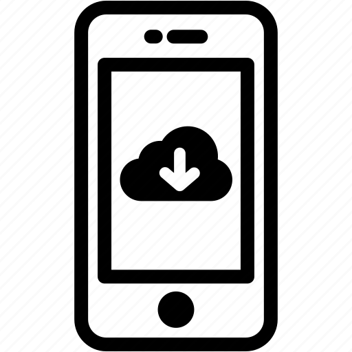 cloud, device, download, mobile, phone, smartphone icon