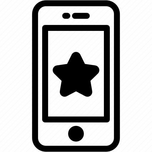 device, favorite, like, mobile, phone, smartphone, star icon