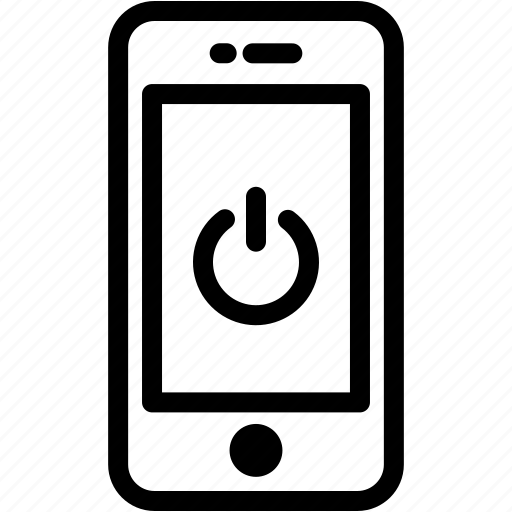 device, mobile, phone, power, smartphone icon