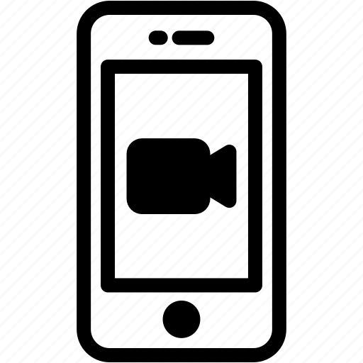 device, media, mobile, phone, smartphone, video icon