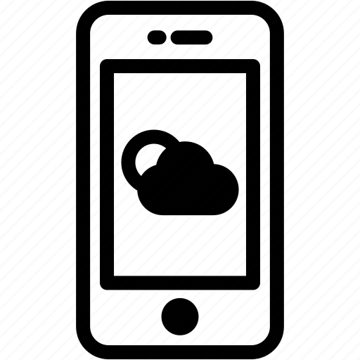 device, mobile, phone, smartphone, weather icon