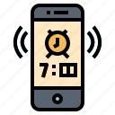 alarm, alert, bell, phone icon