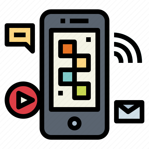 application, communications, smartphone, technology icon