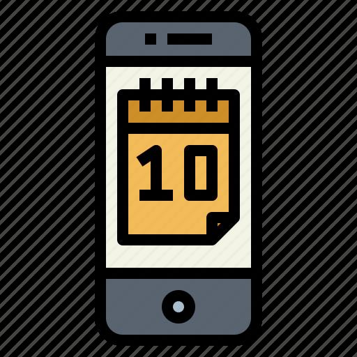 calendar, date, phone, schedule icon